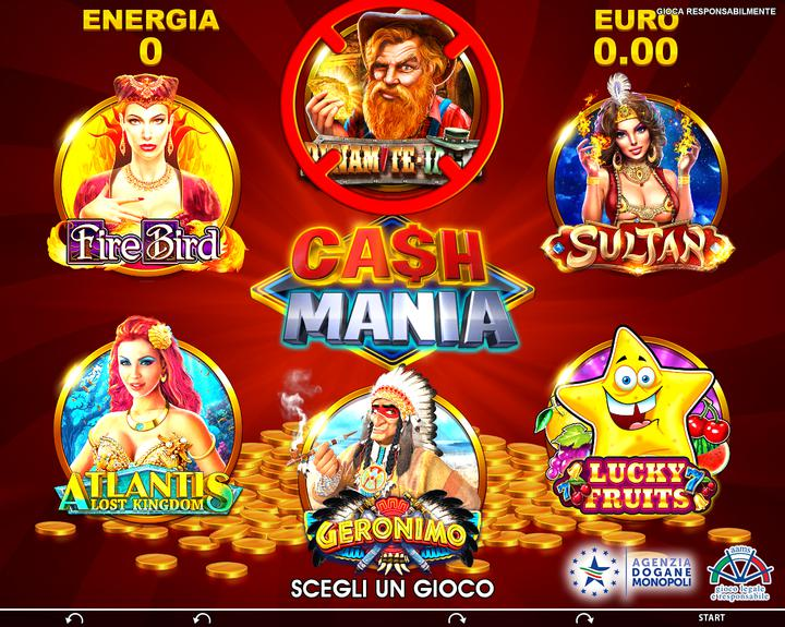 Cashmainia - selection screen